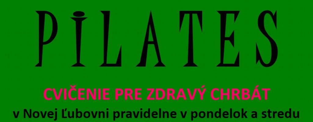 Pilates pravidelne v Novej Ľubovni